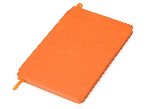 Блокнот «Notepeno» 130x205 мм с тонированными линованными страницами, оранжевый