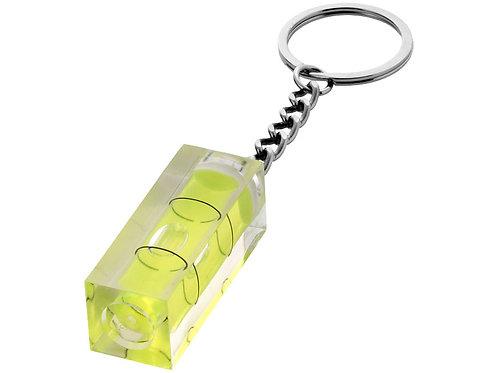 Брелок с уровнем, прозрачный желтый/серебристый