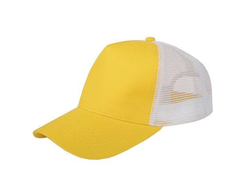 "Бейсболка ""Mesh"" 5-ти панельная, желтый"