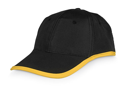 Бейсболка «Solo», черный/желтый