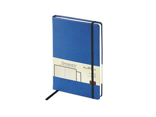 Блокнот А5 «Megapolis Velvet» на резинке, синий