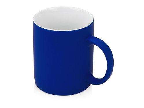Кружка с покрытием soft-touch «Barrel of a Gum», синий