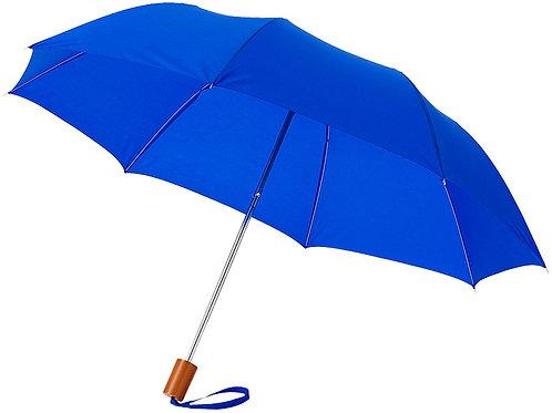 """Зонт Oho двухсекционный 20"""", ярко-синий"""