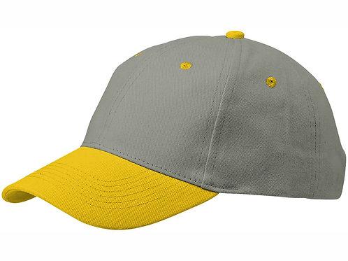 "Бейсболка ""Grip"", серый/желтый"