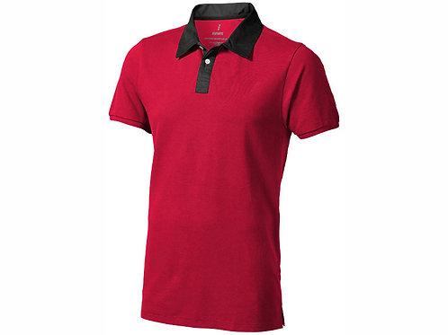 """Рубашка поло """"York"""" мужская, красный/антрацит"""