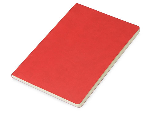 Блокнот «Wispy» линованный в мягкой обложке, красный