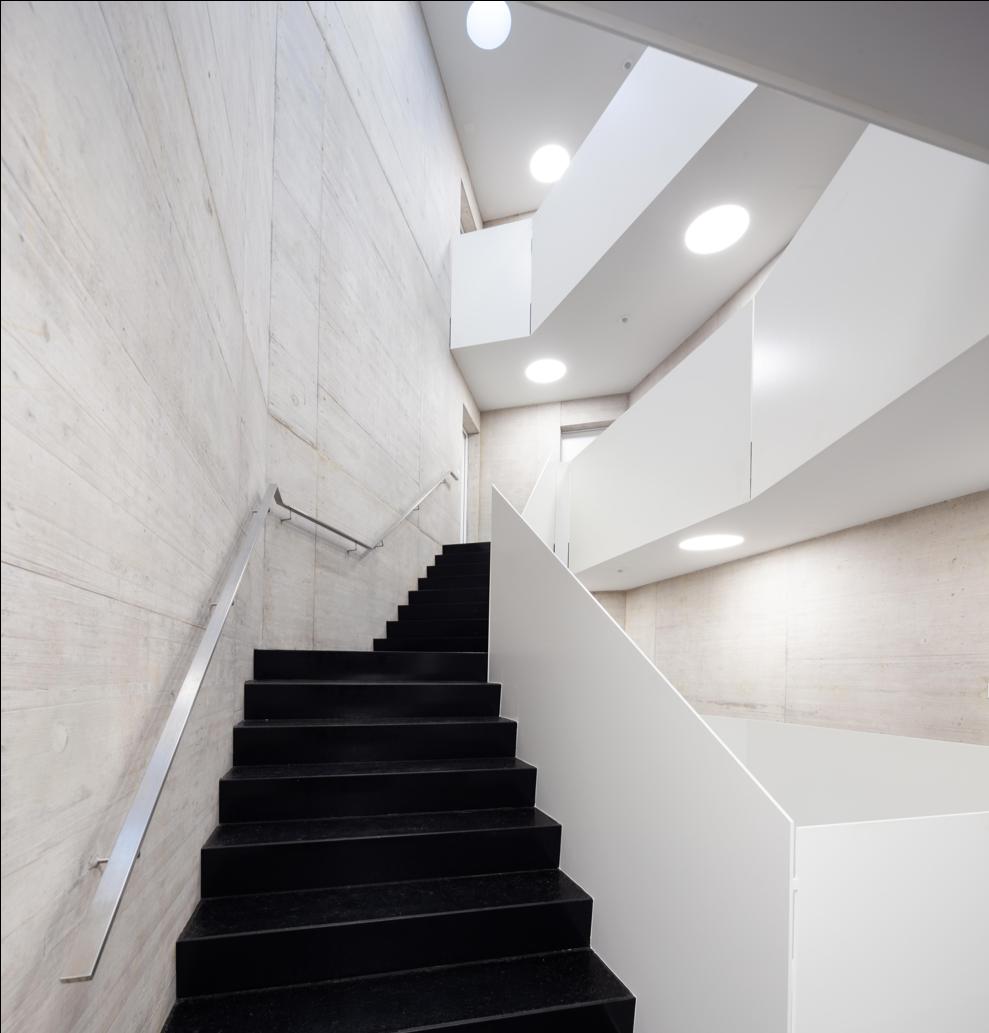 Treppenhaus im Sichtbeton Neubau
