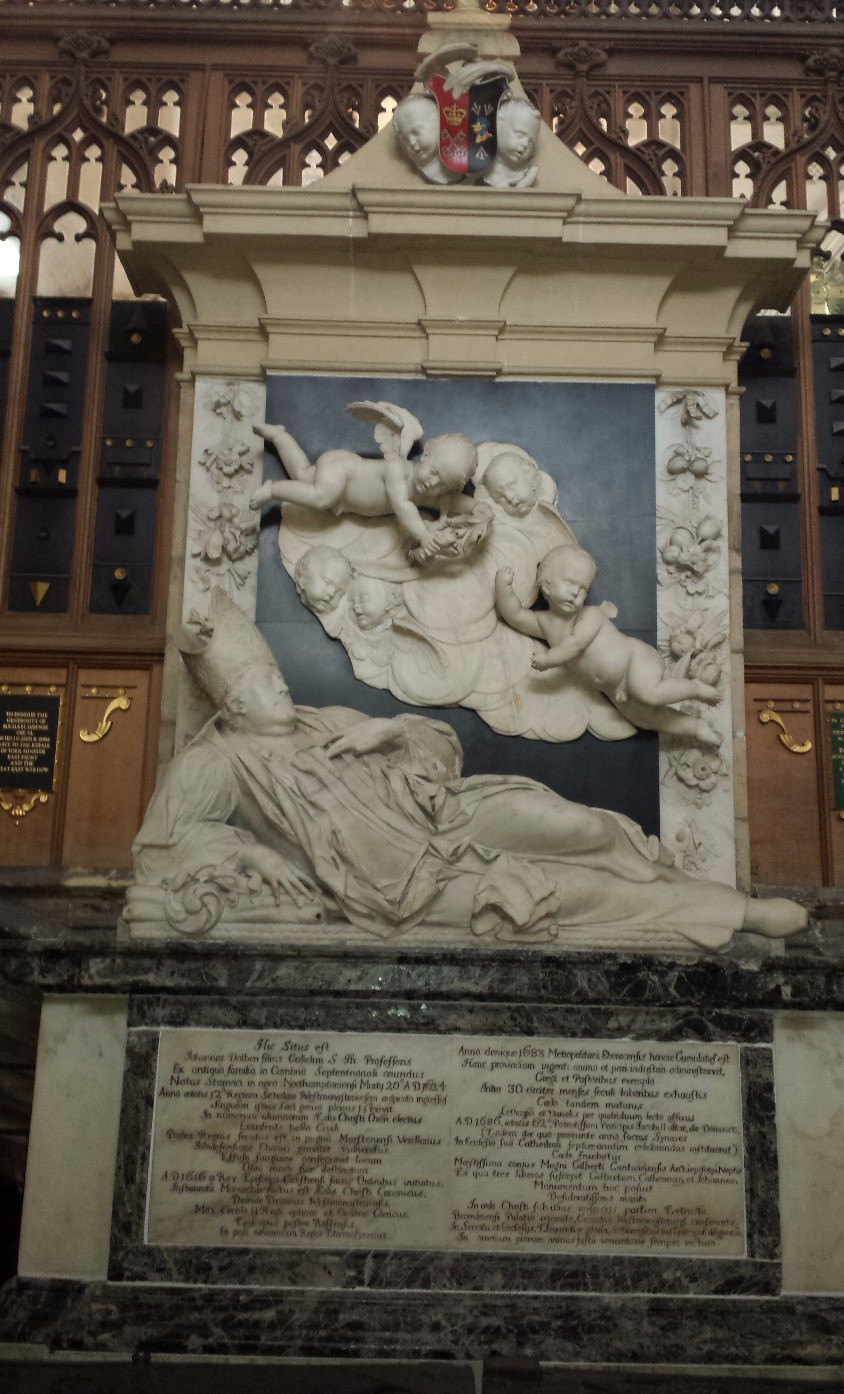 Monument to Archbishop Dolben, South Quire Aisle of York Minster