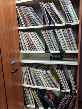 Our collection of vinyl recordings.