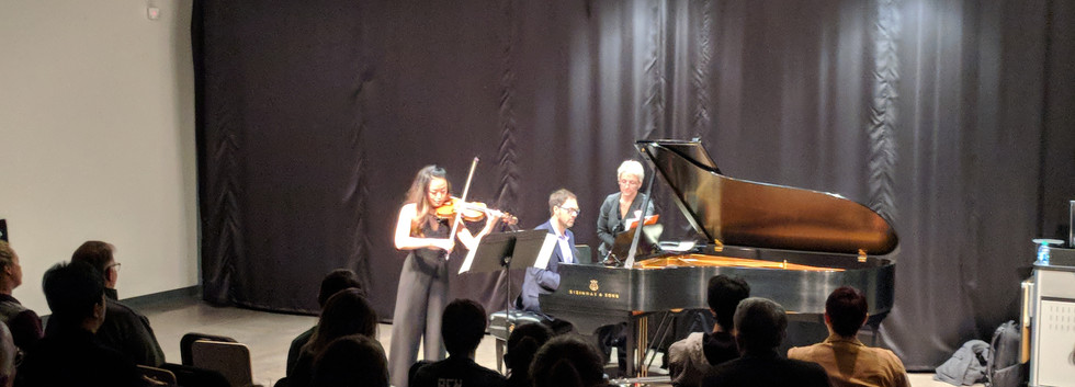 Eunice Kim of the SPCO with Timothy Lovelace guest artist recital, Spring 2017