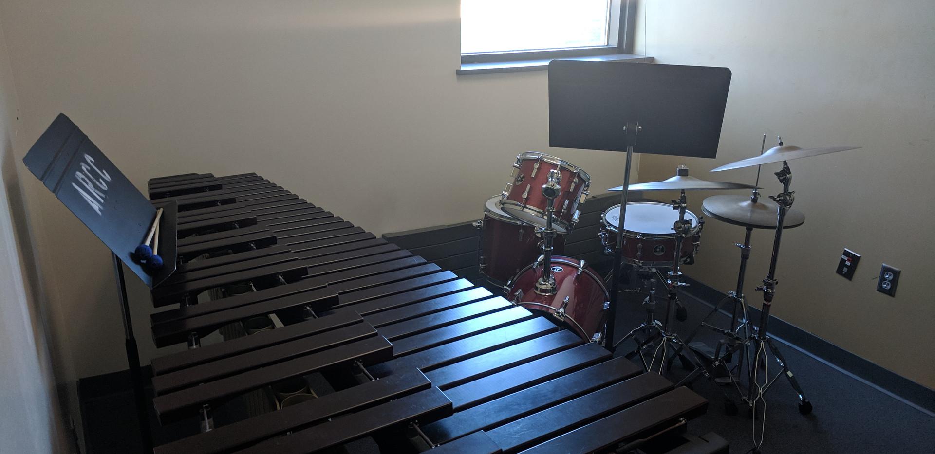 Percussion practice room