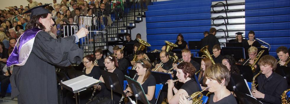 Concert Band at graduation