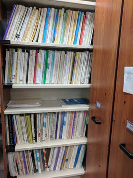 A section of the Concert Band library