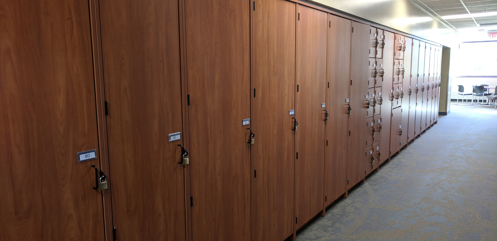 Instrument lockers for student use