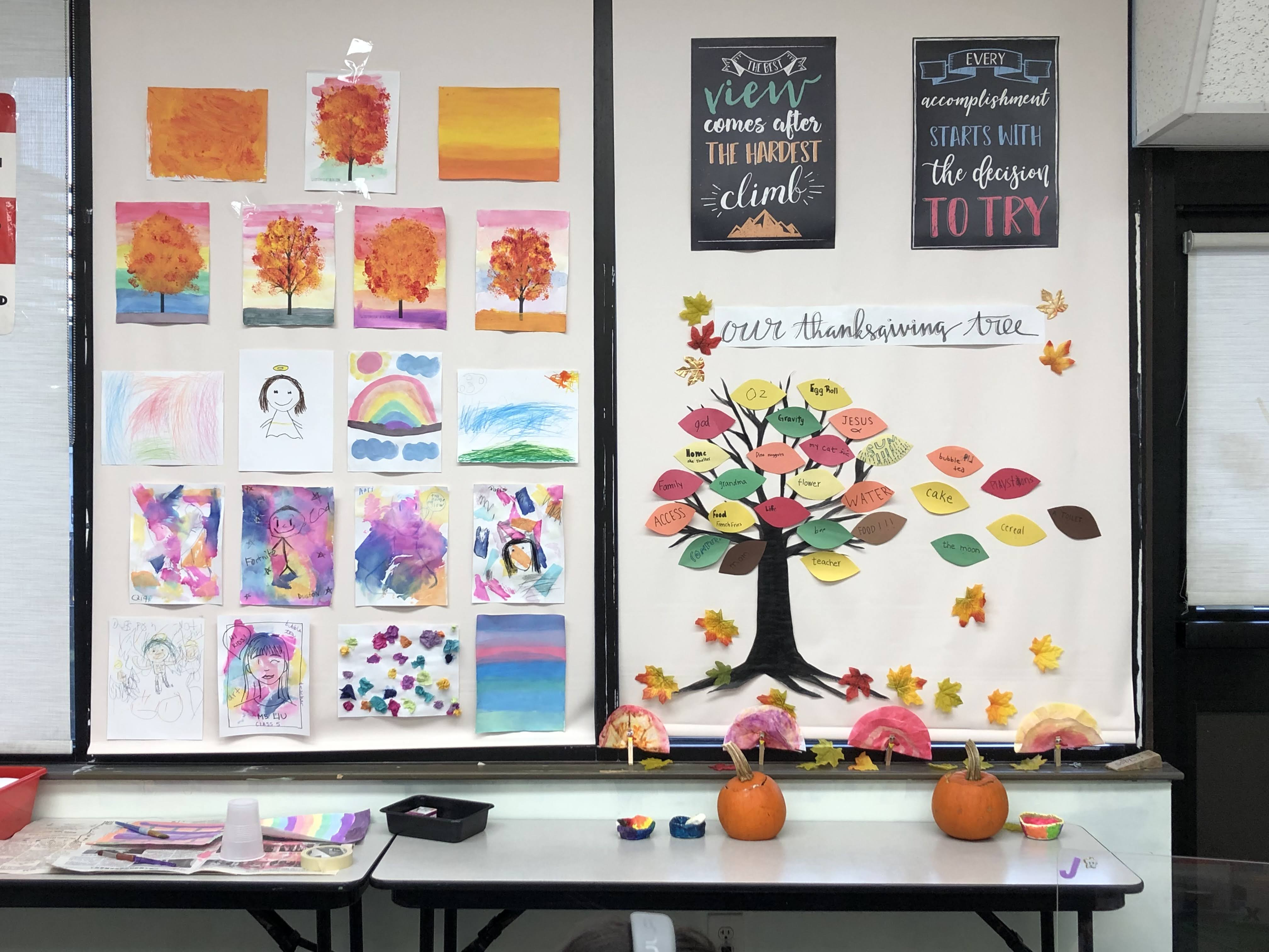 Classroom fall display