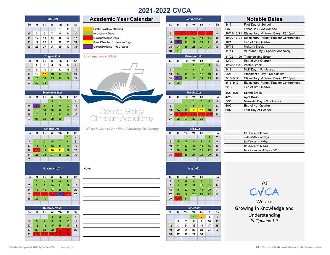 Calendar at a Glance - 7-20-21
