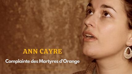 Ann Cayre Complainte des Martyres d'Oran