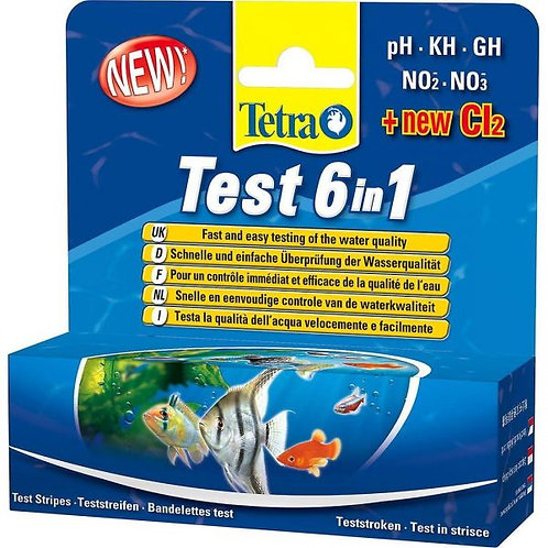 Tetra 6-in-1 Test Strips (25 Strips)