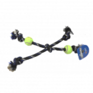 Tuggers Rope Bone with Tennis Balls - X-Large
