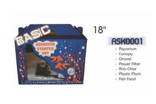 "Akwa Aquarium Starter Kit 18"" Basic"