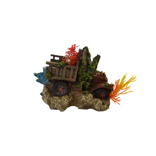 Ornament Coral Pick Up Truck
