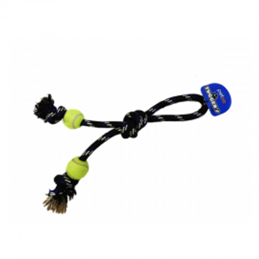 Tuggers Rope Double Knot with Tennis Balls - X-Large