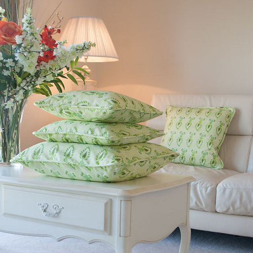 Feathers - lime - cushion