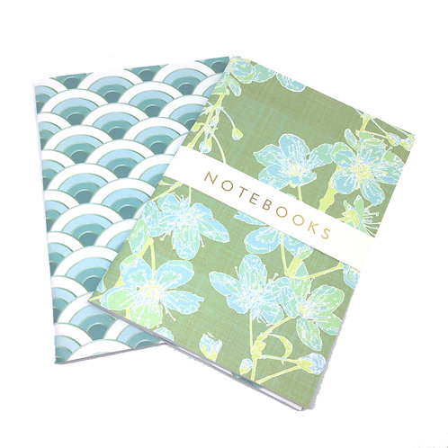 Maiko Blossom - blues - A6 notebook set