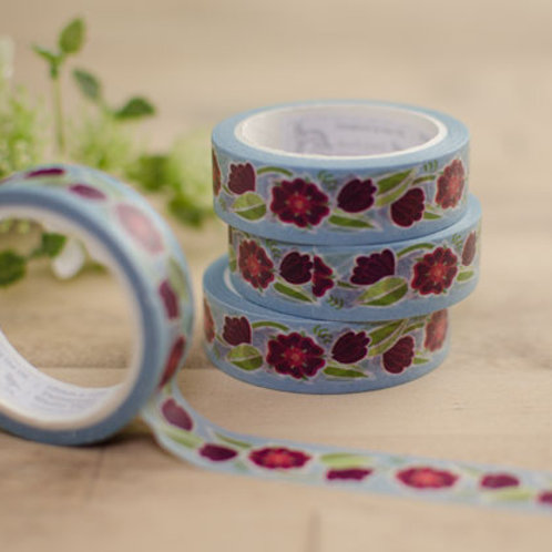Tudor Rose - red - washi tape