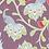 Thumbnail: Peacocks - plum & raspberry