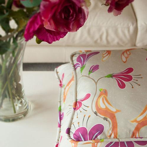 Maharani's Garden - fuchsia - cushion