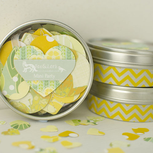WS: Maiko Blossom mini party tin - green & yellow