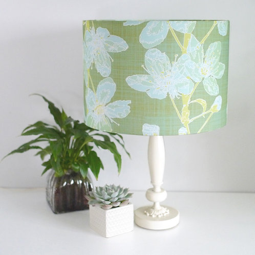 Cherry Sprigs - sage - lampshade
