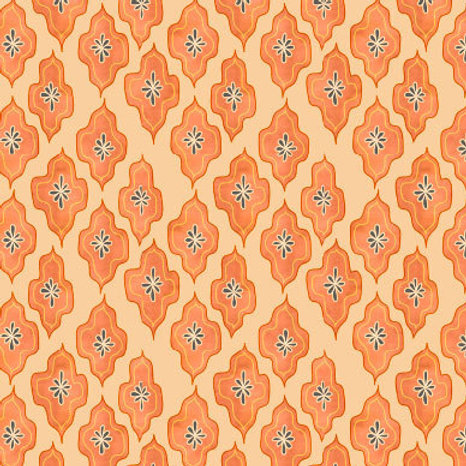 Dappled Lozenge - saffron