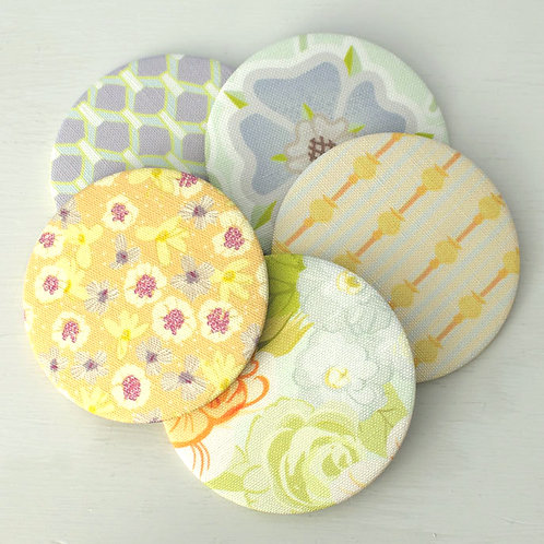 WS: Folly mirrors - apricot & lavenders - pocket mirrors