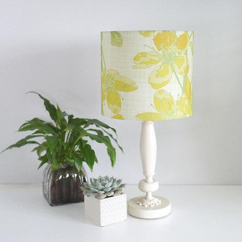 Cherry Sprigs - yellow - lampshade