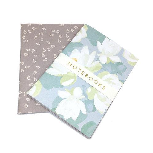WS: Lotus Blooms - greys - A6 notebook set