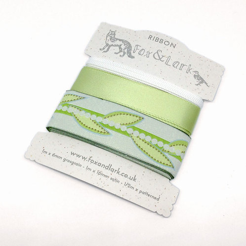 WS: Garden Vines Ribbons - lime