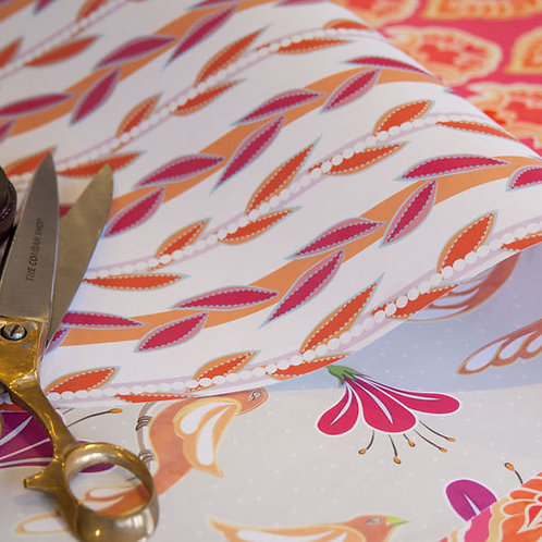 Maharani's Garden & Vines - fuchsia & fruit salad - wrapping paper