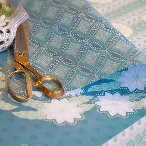 Kanzashi Breeze & Diamonds - deep teal - wrapping paper