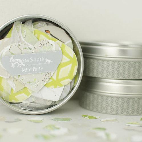 WS: Maharani mini party tin - mink & lime