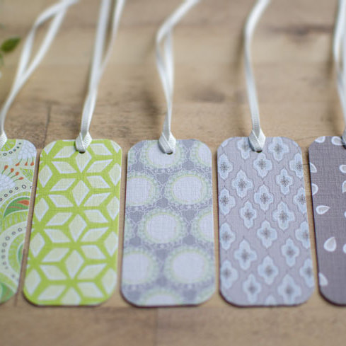 Dayana Flourish gift tags - minks & limes