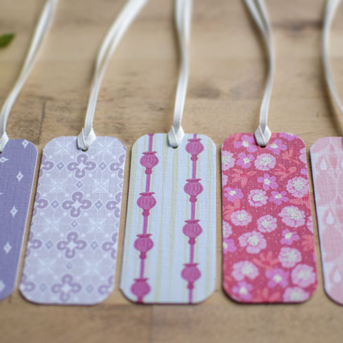 WS: Folly gift tags - pinks, fuchsia & lavenders