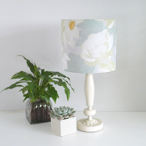 Lotus Blooms - grey - lampshade