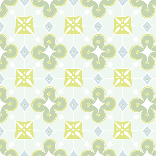 Quatrefoil - soft green