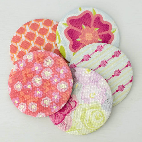 WS: Folly mirrors - raspberry & plum - pocket mirrors