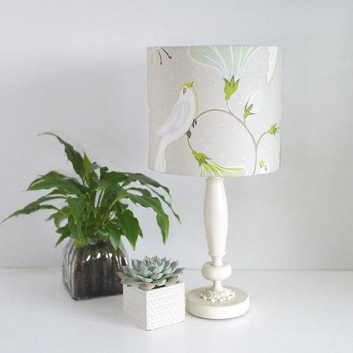 Birds - white - lampshade