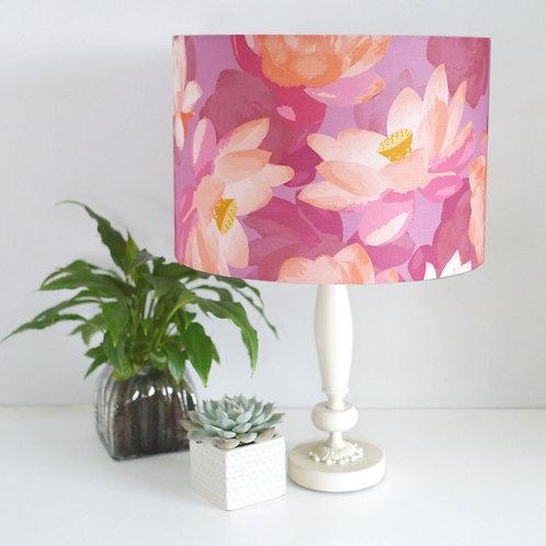 Lotus Blooms - pink - lampshade