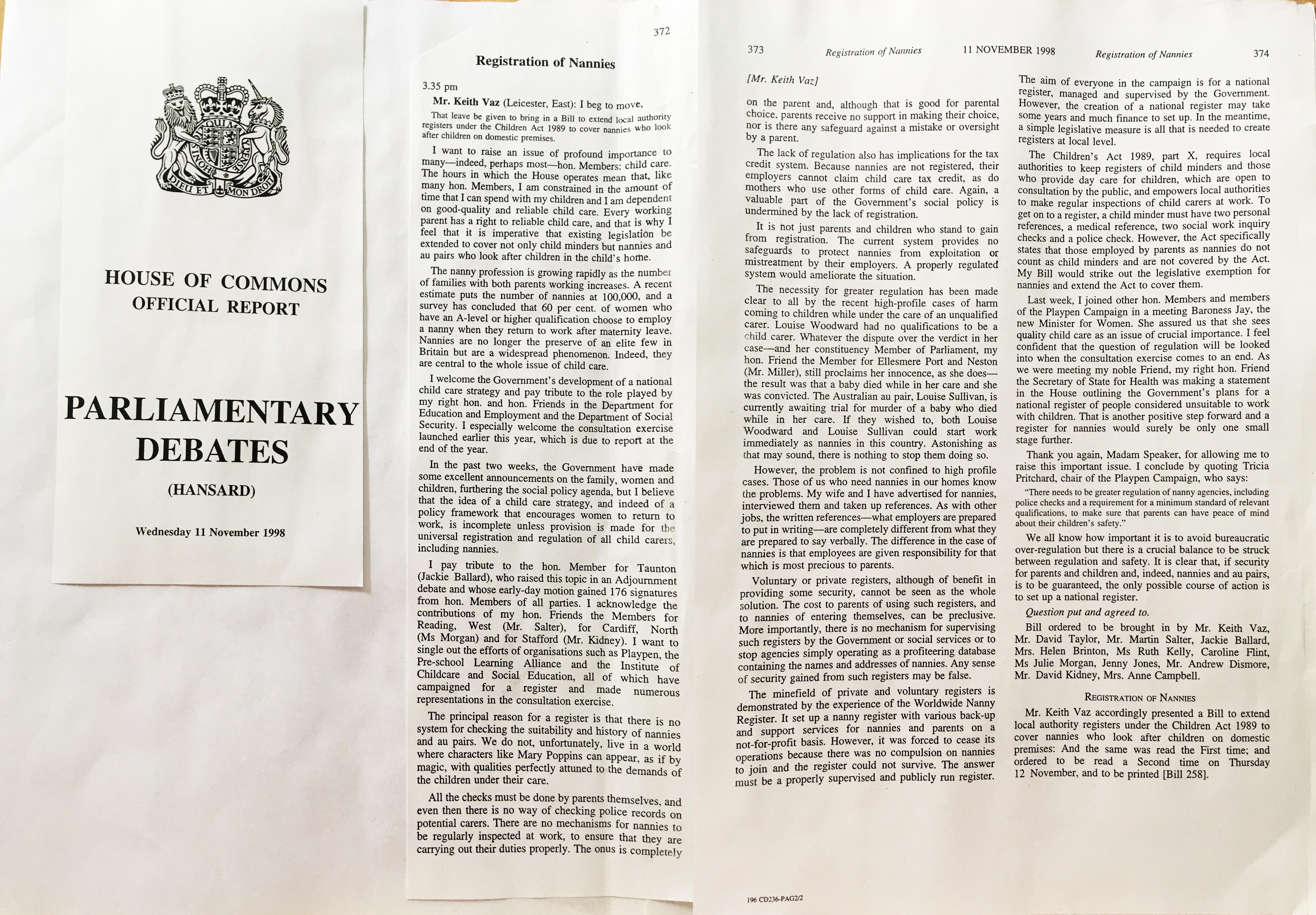 1998-11-11 Hansard - RM