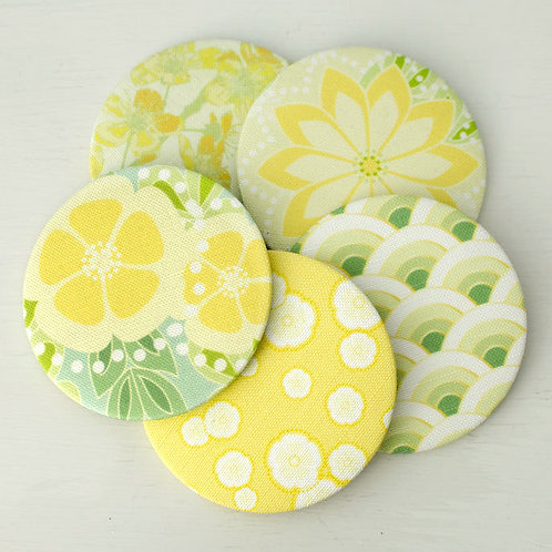 Maiko Blossom - greens & yellow - pocket mirrors